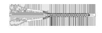 Кабельный чулок проходной с двумя петлями