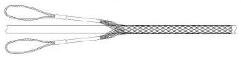 Поддерживающий кабельный чулок КЧП 20/2 с двумя петлями