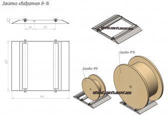 Опора роликовая для размотки кабельных барабанов(платформа для размотки барабанов)