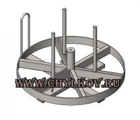 Стойка для размотки кабельных бухт СРБ-1М с раздвижной шейкой