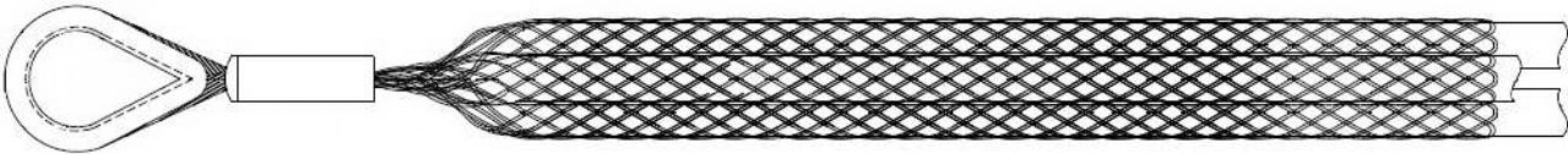 Кабельный чулок тройной КЧ 65/3 с одной петлей