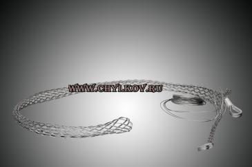 Кабельный чулок разъемный КЧР 110/2У удлиненный с двумя петлями