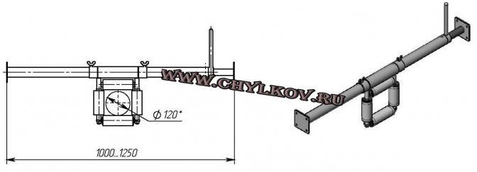 Ролик кабельный линейный на штанге – ЕР 4-100
